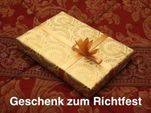 Geschenk zum Richtfest